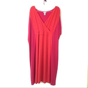 Catherines | Hot Pink Color Block Dress
